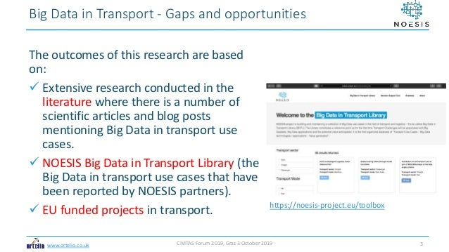 Big Data in Transport: Gaps and Opportunities Slide 3