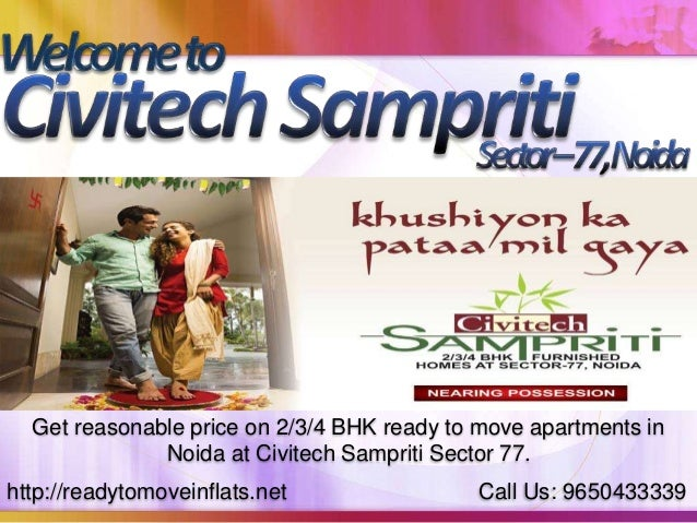 http://readytomoveinflats.net Call Us: 9650433339 Get reasonable price on 2/3/4 BHK ready to move apartments in Noida at C...
