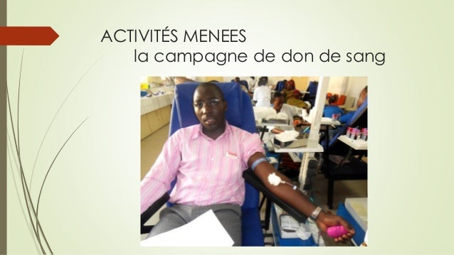 ACTIVITÉS MENEESla campagne de don de sang