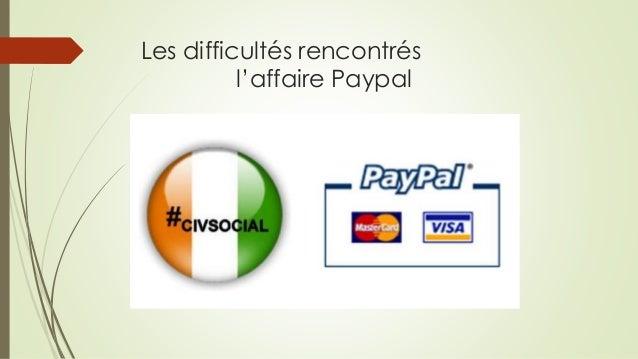 Les difficultés rencontrés l'affaire Paypal