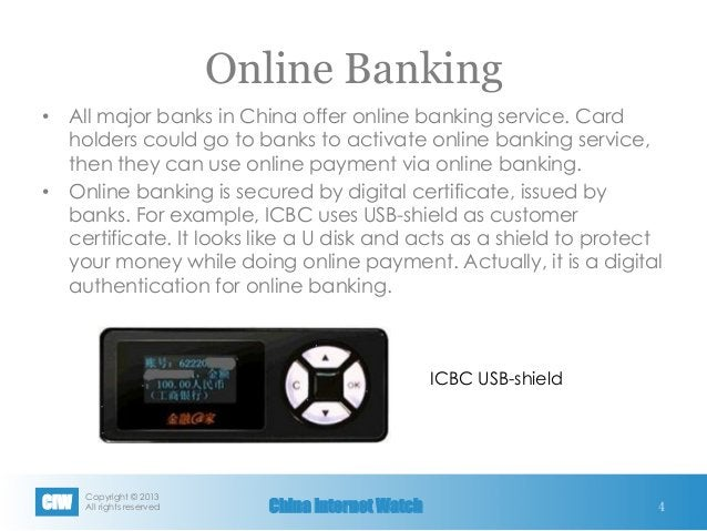 Copyright © 2013 All rights reservedCIW China Internet Watch Online Banking • All major banks in China offer online bank...