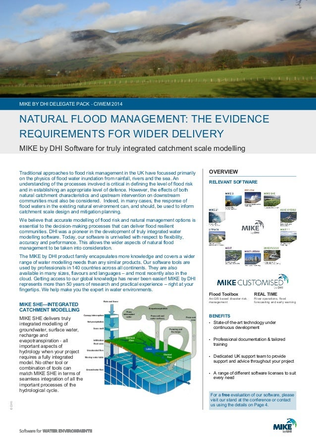 © DHI  Traditional approaches to flood risk management in the UK have focussed primarily  on the physics of flood water in...