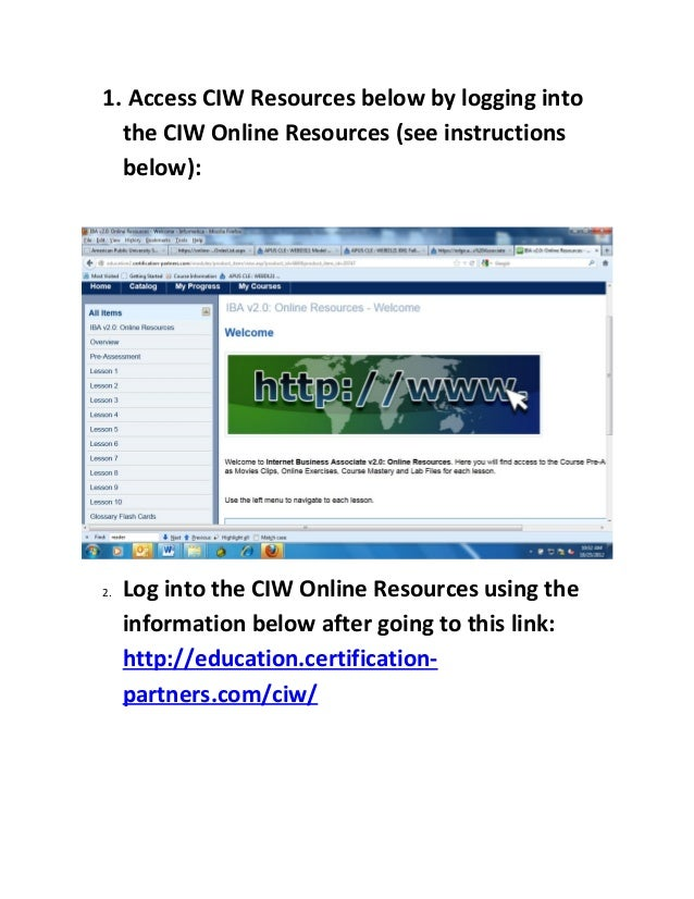 Ciwonlineresourcesstudentaccess Mustdo 11 4