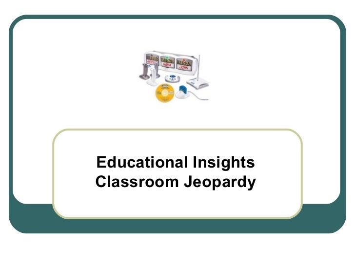 Educational Insights Classroom Jeopardy