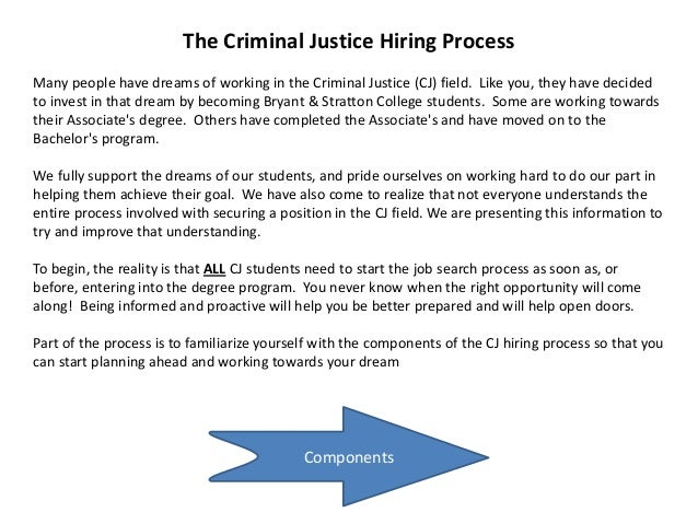 The Process of Criminal Justice