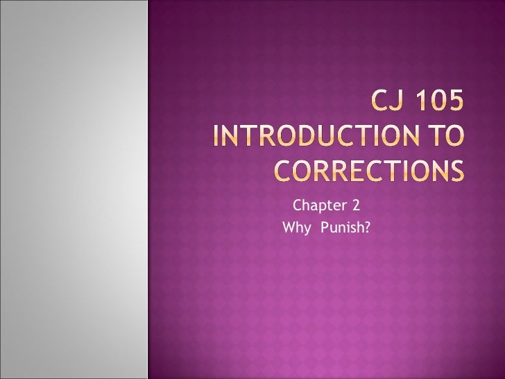 Chapter 2 Why  Punish?