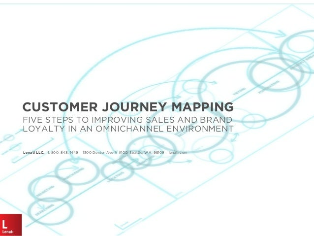 CUSTOMER JOURNEY MAPPING FIVE STEPS TO IMPROVING SALES AND BRAND LOYALTY IN AN OMNICHANNEL ENVIRONMENT Lenati LLC. 1. 800....