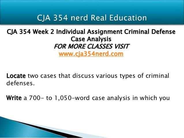 Individual criminal defense case analysis