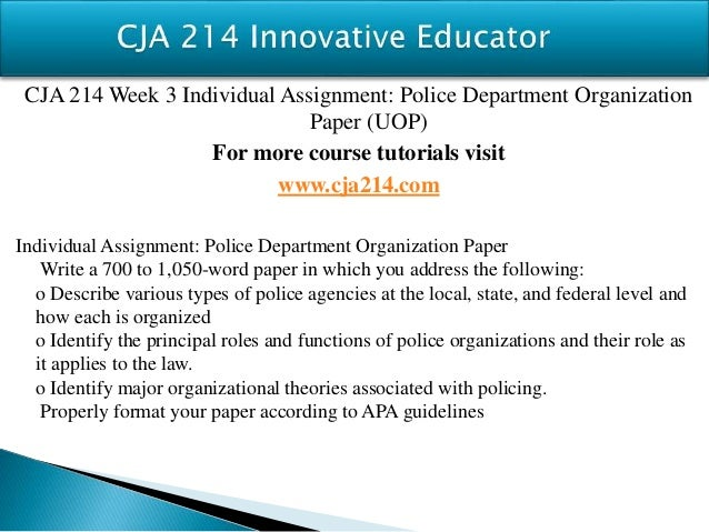 CJA 214 Course Seek Your Dream