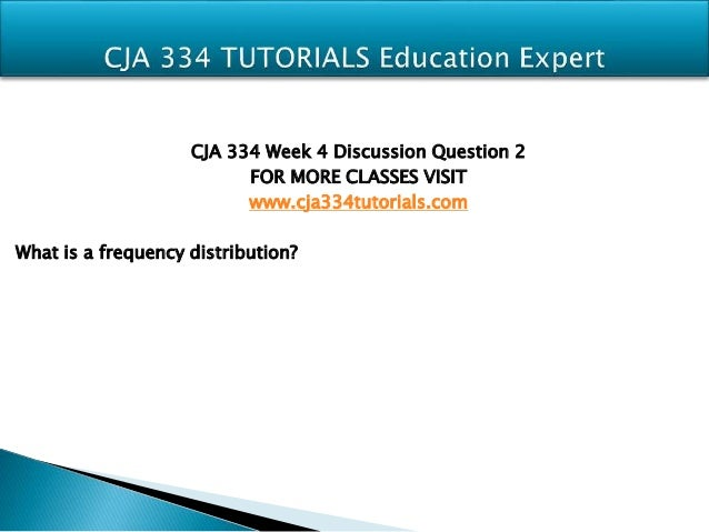 Cja 334 research proposal part i