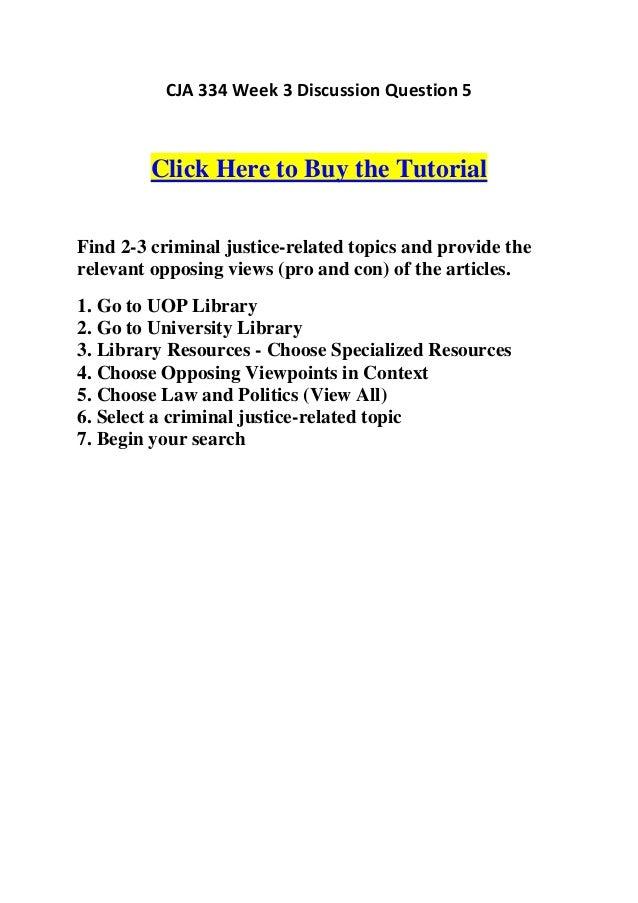 Criminal Justice Specialized Databases: