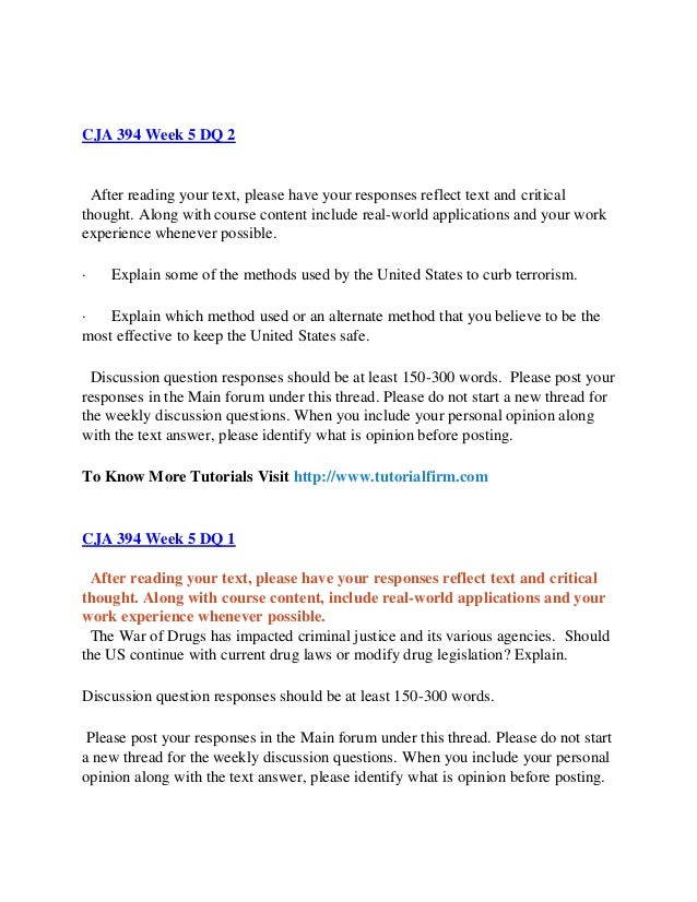 CJA 394 UOP Course / Tutorialrank