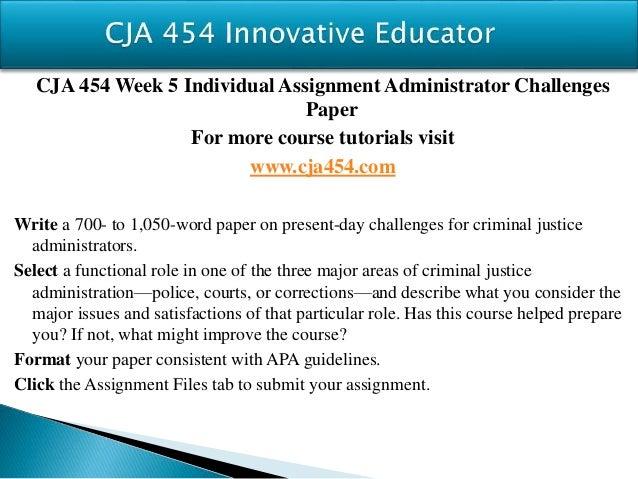 CJA 454 Latest / UopHelp