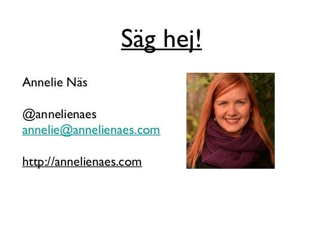 Konvertering på responsiva ehandelssajter - Av Annelie Näs på #CJAM2