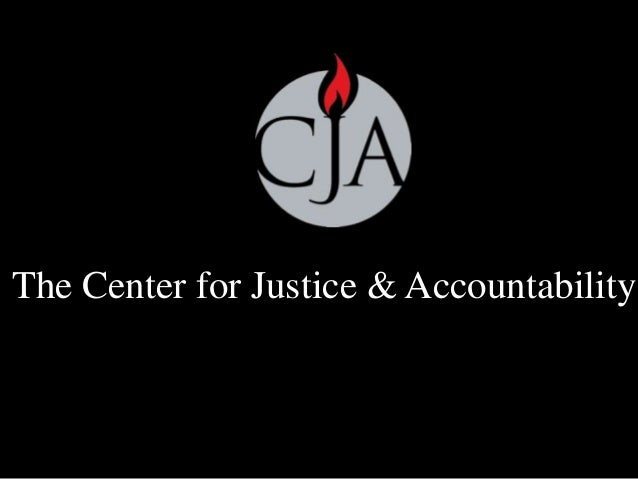 The Center for Justice & Accountability