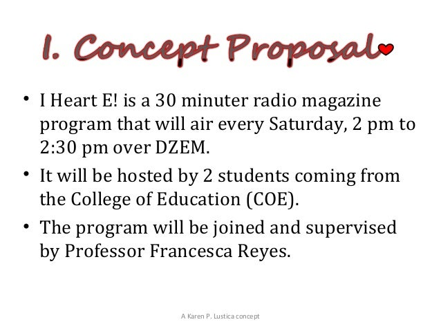radio show proposal template