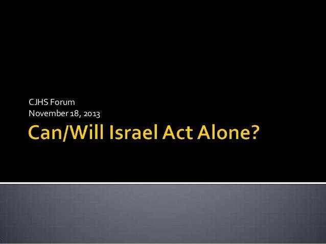 CJHS Forum November 18, 2013