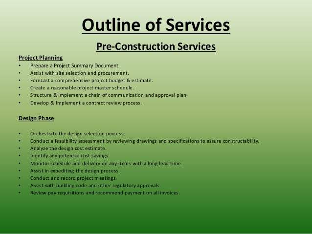 cjm construction consulting powerpoint presentation