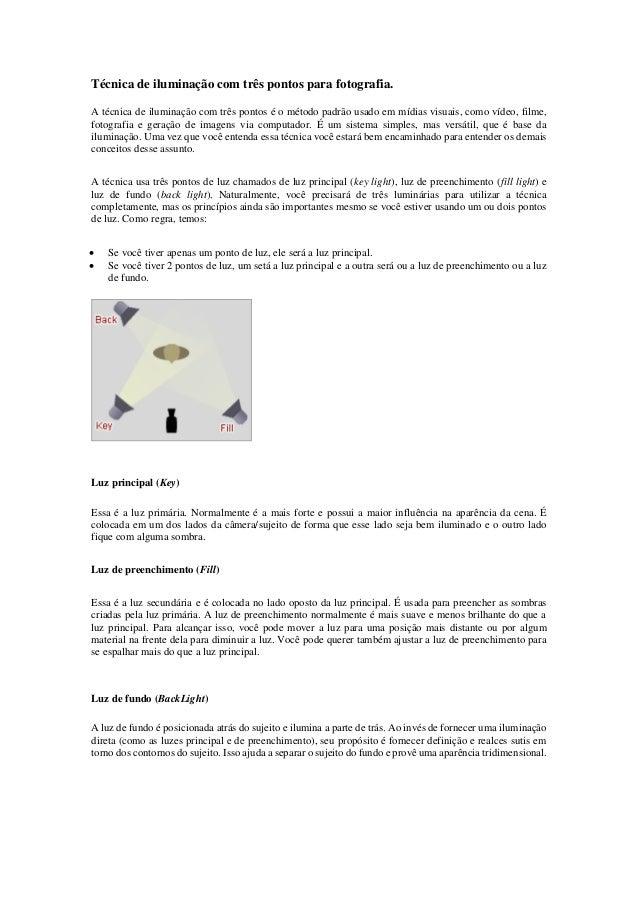 Técnica de iluminação com três pontos para fotografia. A técnica de iluminação com três pontos é o método padrão usado em ...