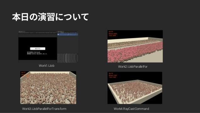 【Unite Tokyo 2018 Training Day】C#JobSystem & ECSでCPUを極限まで使い倒そう ~C# JobSystem 編~