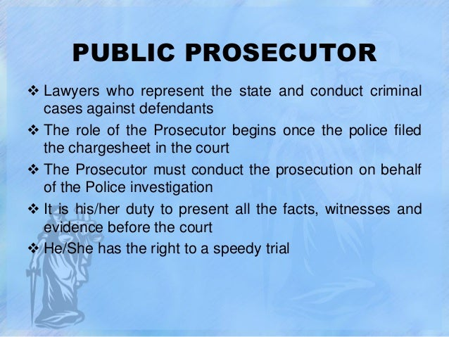 what is the role of the public prosecutor