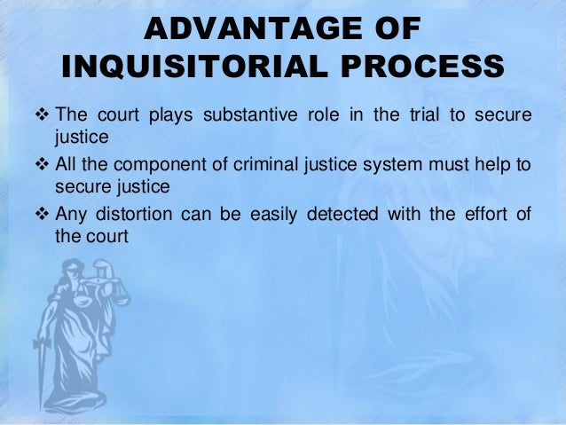 definition of inquisitorial system