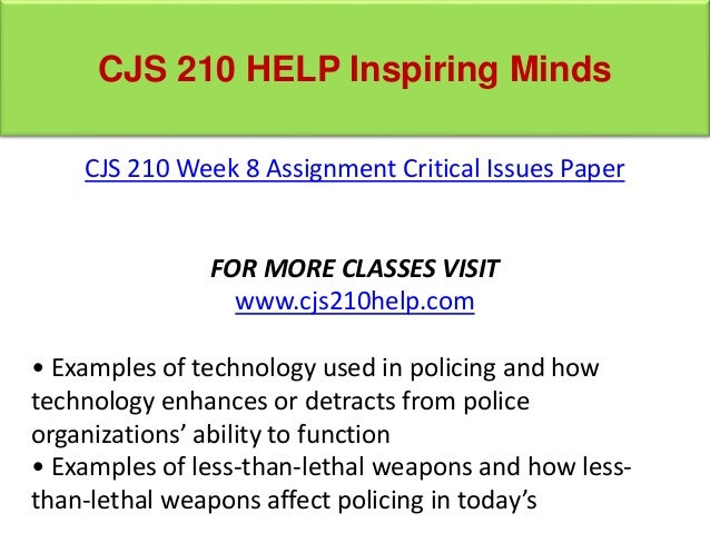 cjs 210 week 6 police roles and functions Cjs 210 this category contains 13 products  view as grid or list  | sort by: date added featured name part number price status in ascending order in descending order with 10 25 50 75 100 per page.