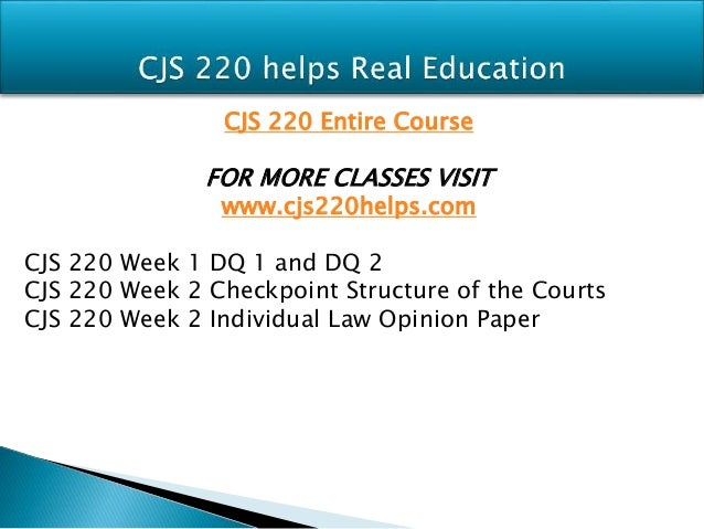 CJS 240 UOP Courses / uoptutorial