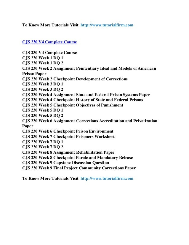 cjs 230 corrections a world apart Read this essay on cjs 230 edu spirit of innovation/cjs230edudotcom cjs 230 week 9-final project - a world apart of corrections cjs 230.