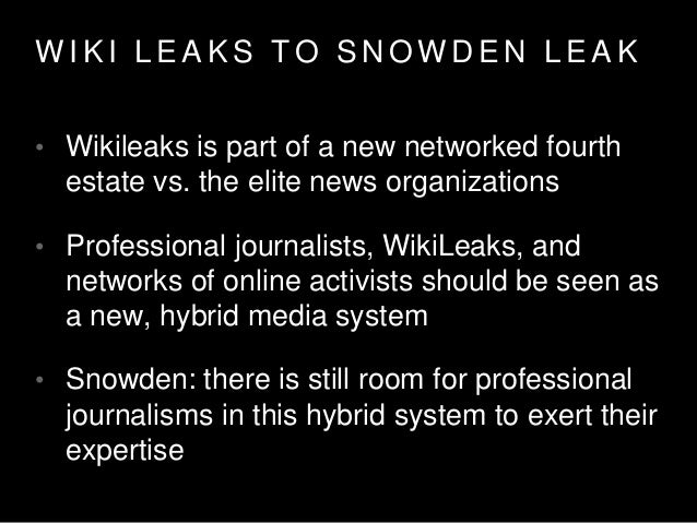 S T R A T E G Y T H E G U A R D I A N •WiliLeaks processes and procedures were embedded in the news room •Glenn Greenwald ...