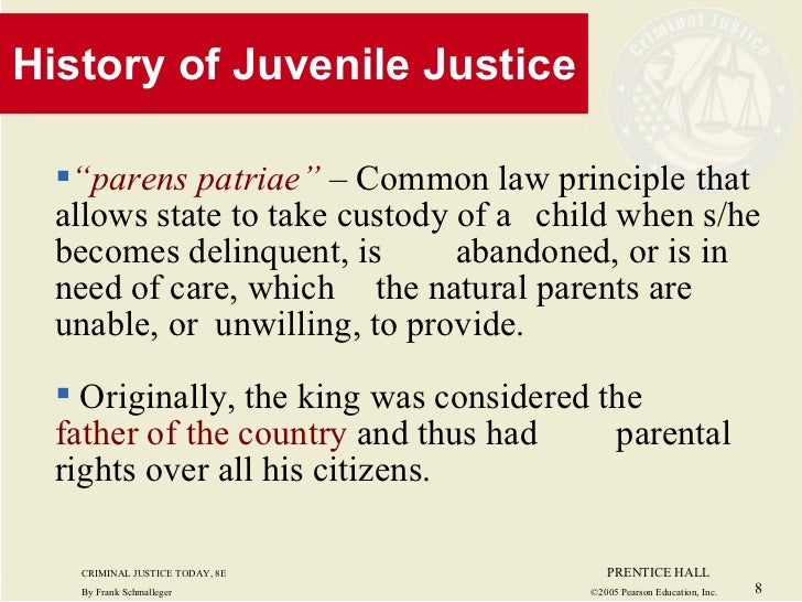 JUVENILE JUSTICE: HISTORY AND PHILOSOPHY