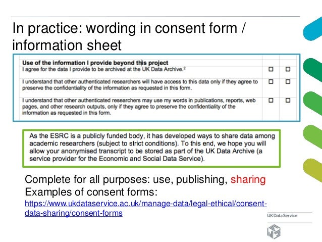 example of a consent form