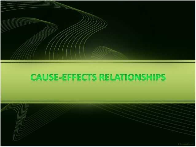 cause and effect relationship in english subject object