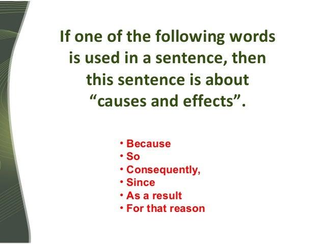 causal relationship grammar definition