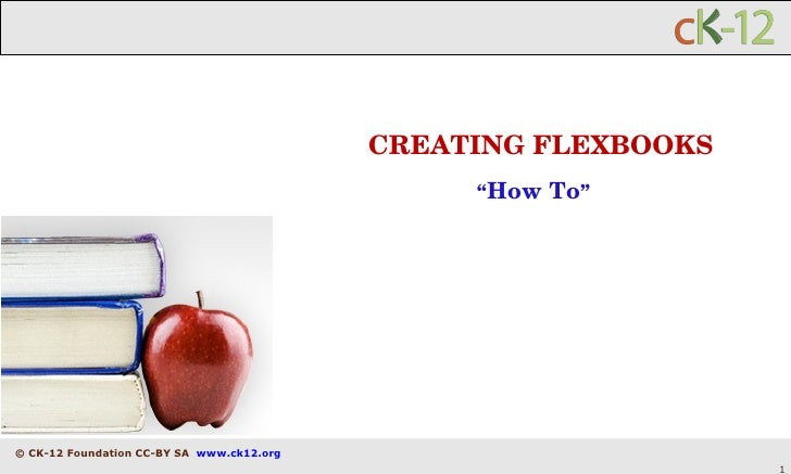"CREATING FLEXBOOKS "" How To """
