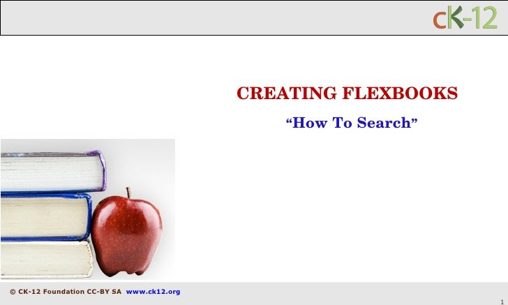 """CREATING FLEXBOOKS """" How To Search """""""