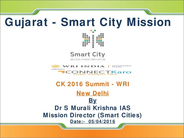 Gujarat smart city mission for J murali ias profile