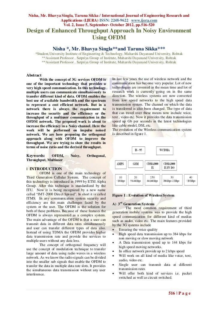 Nisha, Mr. Bhavya Singla, Taruna Sikka / International Journal of Engineering Research and                  Applications (...