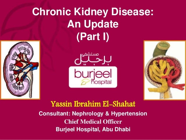 Chronic Kidney Disease: An Update (Part I) Yassin Ibrahim El-Shahat Consultant: Nephrology & Hypertension Chief Medical Of...