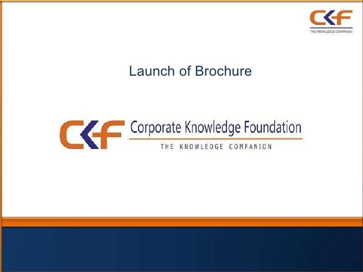 Launch of Brochure