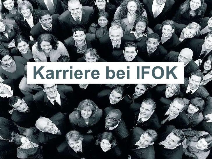 Karriere bei IFOK