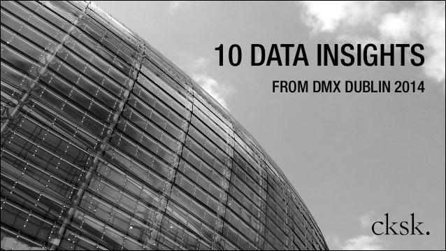 10 DATA INSIGHTS FROM DMX DUBLIN 2014