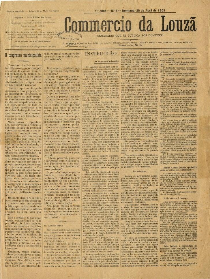 Commercio da Louzã n.º 4 – 25.04.1909