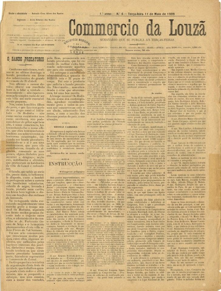 Commercio da Louzã n.º 6 – 11.05.1909