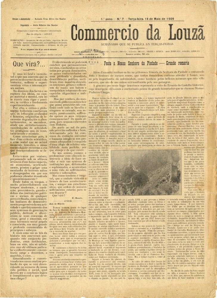 Commercio da Louzã n.º 7 – 18.05.1909