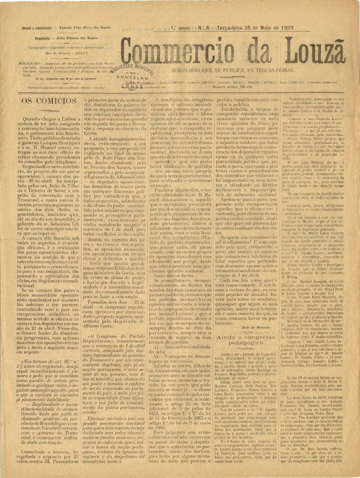 Commercio da Louzã n.º 8 – 25.05.1909