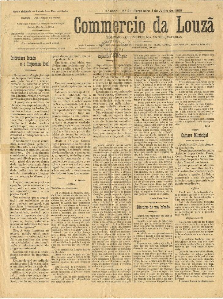 Commercio da Louzã n.º 9 – 01.06.1909