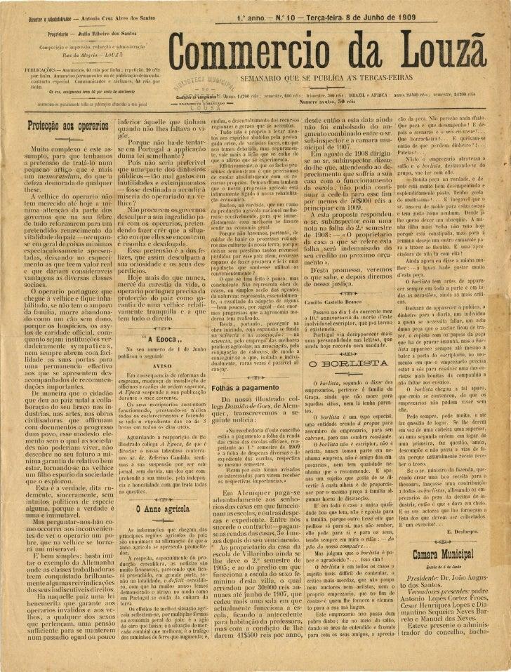 Commercio da Louzã n.º 10 – 08.06.1909