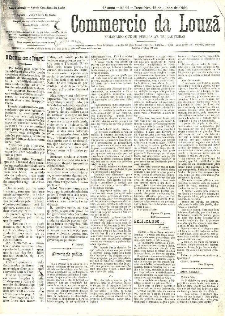 Commercio da Louzã n.º 11 – 15.06.1909