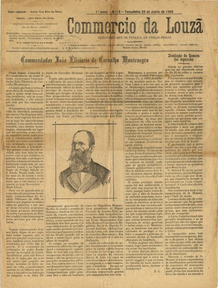 Commercio da Louzã n.º 12 – 22.06.1909
